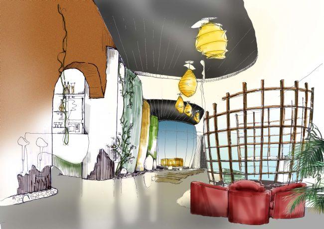 知名别墅会所设计师手绘效果图案例
