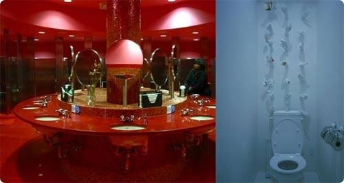 餐饮卫生间的创意欣赏