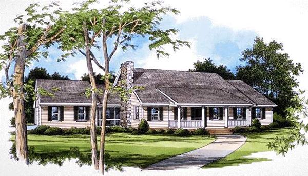 别墅建筑外观手绘设计效果图