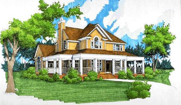 别墅手绘外观建筑设计图别墅50盖万农村图片