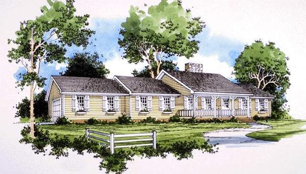 别墅建筑外观手绘设计图