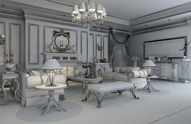 别墅空间设计概念效果图