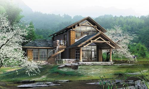 建筑设计    别墅建筑外观设计方案                      私人别墅已