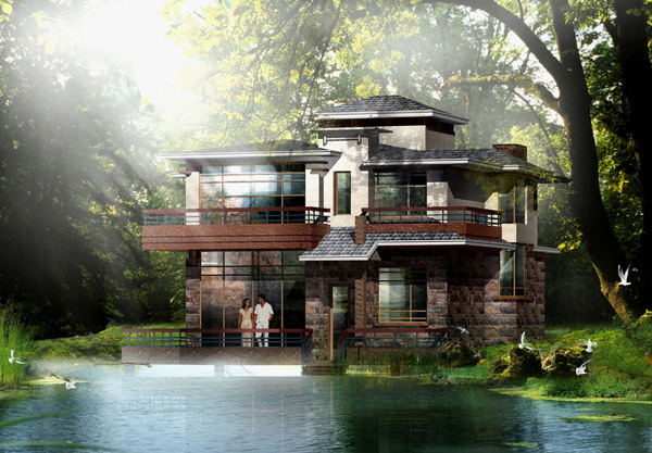 独栋别墅建筑外观设计方案