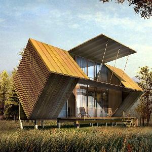 独栋自建别墅建筑外观设计效果图