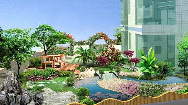 别墅庭院花园设计方案