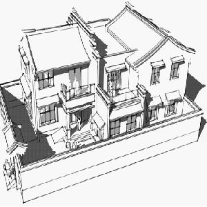中式手绘家具线稿